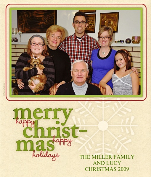 [The Miller family, Christmas 2009]