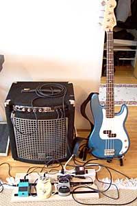 [Derek's bass gear, January 2005]