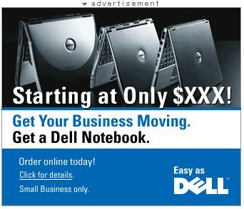 [Dell ad with price as $XXX]