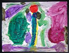 ['Totem Pole' by Marina Miller (age 5), Apr 2003]