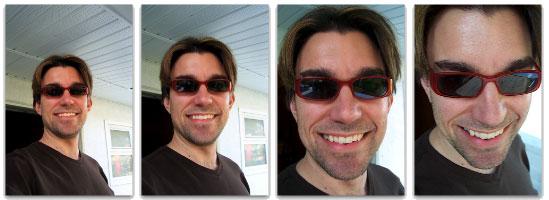 Derek models his new shades