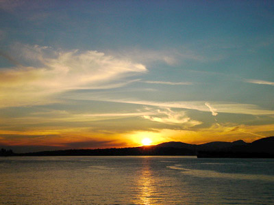 [Summer sunset over Vancouver Harbour]