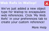 [Wallop encapsulates web references! Right on! (Huh?)]