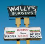 [Wally's Burgers sign on Kingsway]