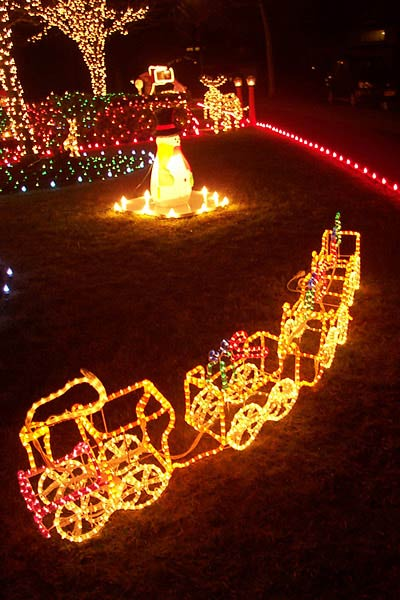 Christmas light train