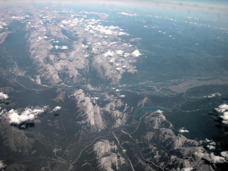 Aerial Photos Trans Canada Highway And Rocky Mountains