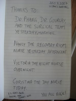 Medical Thanks Blog Page